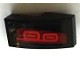 Part No: 11477pb054R  Name: Slope, Curved 2 x 1 No Studs with Red Taillights Pattern Model Right Side (Sticker) - Set 75873