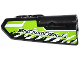 Part No: 11947pb009  Name: Technic, Panel Fairing #22 Very Small Smooth, Side A with 'SNOWMOBILE' and Black and White Splatters Pattern (Sticker) - Set 42021