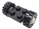 Part No: 122c02assy2  Name: Plate, Modified 2 x 2 with Wheels White with Black Tires 15mm D. x 6mm Offset Tread Small (122c02 / 3641)