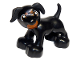 Part No: 1396pb02  Name: Duplo Dog Large Paws with Open Mouth and Spots between Eyes Pattern