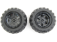 Part No: 15038c01  Name: Wheel 56mm D. x 34mm Technic Racing Medium, 6 Pin Holes with Black Tire 94.8 x 44 R Balloon (15038 / 54120)