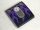 Part No: 15068pb094  Name: Slope, Curved 2 x 2 No Studs with Cat Ears Speedometer and Dark Purple Flames Pattern