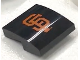 Part No: 15068pb145  Name: Slope, Curved 2 x 2 No Studs with San Francisco Giants Logo Pattern