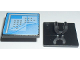 Part No: 15210pb002  Name: Road Sign Clip-On 2 x 2 Square Open O Clip with Curved Blue Lines and Small Black Squares Pattern (Computer Screen)