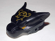 Part No: 15372pb01  Name: Large Figure Head Modified Chima Panther Upper Jaw with Ornate Gold Pattern