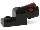 Part No: 15403c02  Name: Plate, Modified 1 x 2 with Mini Blaster / Shooter with Reddish Brown Trigger (15403 / 15392)