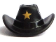Part No: 15424pb01  Name: Minifigure, Headgear Hat, Cowboy with Gold Star Pattern