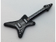 Part No: 17356pb02  Name: Minifigure, Utensil Guitar Electric 'ML' Type with Pearl Dark Gray Pickguard and Silver Strings, Bridge and Whammy Bar Pattern