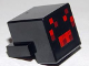 Part No: 19727pb001  Name: Plate, Modified 1 x 2 with Cube with Red and Dark Red Pixelated Face Pattern (Minecraft Spider)