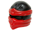 Part No: 19857pb01  Name: Minifigure, Headgear Ninjago Wrap Type 2 with Red Wraps and Knot Pattern