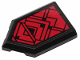 Part No: 22385pb174  Name: Tile, Modified 2 x 3 Pentagonal with Red SW Sith Ornament Pattern (Sticker) - Set 75251