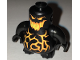 Part No: 22472c02pb04  Name: Body, Nexo Knights Scurrier with Black Arms with Orange and Yellow Eyes, Open Mouth and Cracks Pattern