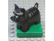 Part No: 2299c01pb01  Name: Duplo Dog Scottish Terrier (Scottie) on Green Base