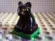 Part No: 2334c03pb02  Name: Duplo Panther Cub on Green Base