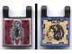 Part No: 2335pb006  Name: Flag 2 x 2 Square, Dual Pattern, Scorpion and Lion with Crown