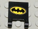Part No: 2335pb015  Name: Flag 2 x 2 Square with Batman Logo Pattern (Sticker) - Set 7783
