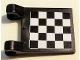 Part No: 2335pb053  Name: Flag 2 x 2 Square with Checkered Pattern on Both Sides, Black Corners (Stickers)