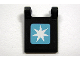 Part No: 2335pb073  Name: Flag 2 x 2 Square with Maersk Logo Pattern (Sticker) - Set 10219