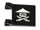Part No: 2335pb154L  Name: Flag 2 x 2 Square with White Ninja Skull with Crossed Swords Pattern Model Left (Sticker) - Set 70604
