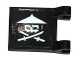 Part No: 2335pb154R  Name: Flag 2 x 2 Square with White Ninja Skull with Crossed Swords Pattern Model Right (Sticker) - Set 70604