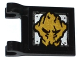 Part No: 2335pb160  Name: Flag 2 x 2 Square with Gold Ninjago Earth Emblem Pattern on Both Sides (Stickers) - Set 70733