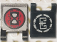 Part No: 2335pb178  Name: Flag 2 x 2 Square with Ninjago Metal and Speed Elemental Logos Pattern on Opposite Sides (Stickers) - Set 70756