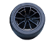 Part No: 23800c01  Name: Wheel 62.3mm D. x 42mm Technic Racing Large with Black Tire 81.6 x 44 ZR Technic Straight Tread (23800 / 23799)