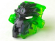 Part No: 24164pb01  Name: Bionicle Mask Umarak with Marbled Trans-Bright Green Pattern