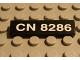 Part No: 2431pb031  Name: Tile 1 x 4 with 'CN 8286' Pattern (Sticker) - Set 8286