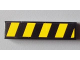 Part No: 2431pb275L  Name: Tile 1 x 4 with Black and Yellow Danger Stripes Pattern Model Left (Sticker) - Set 8295