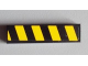 Part No: 2431pb275R  Name: Tile 1 x 4 with Black and Yellow Danger Stripes Pattern Model Right (Sticker) - Set 8295