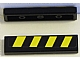 Part No: 2431pb298  Name: Tile 1 x 4 with Black and Yellow Danger Stripes Pattern (Sticker) - Set 7885