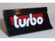 Part No: 2440pb003  Name: Hinge Panel 6 x 3 with White 'turbo' on Red Stripes Pattern (Sticker) - Set 6639