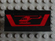Part No: 2440pb011  Name: Hinge Panel 6 x 3 with Red Helicopter and Stripe Pattern (Sticker) - Set 5590