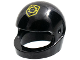 Part No: 2446pb38  Name: Minifigure, Headgear Helmet Standard with Yellow Badge with Minifigure Head Pattern