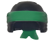 Part No: 24496pb07  Name: Minifigure, Headgear Ninjago Wrap Type 3 with Green Bandana and Knot Pattern