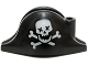 Part No: 2528pb10  Name: Minifigure, Headgear Hat, Pirate Bicorne with Skull with X Eyes and Crossbones Pattern