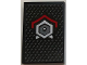 Part No: 26603pb041  Name: Tile 2 x 3 with Metallic Silver Hexagon with Dot in Middle and Red Line Above Pattern (Sticker) - Set 70669