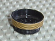 Part No: 2695pb01  Name: Wheel 30mm D. x 13mm (13 x 24 Model Team) with Black Stripes on Gold Pattern (Sticker) - Set 8007