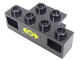 Part No: 2928pb01  Name: Electric, Train Light Prism 1 x 4 Holder with Train Logo Yellow Small Pattern (Sticker) - Set 4564