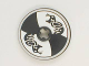 Part No: 2958pb010  Name: Technic, Disk 3 x 3 with Viking Shield Black / White Section and Black Serpent Pattern (Sticker)
