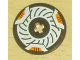 Part No: 2958pb012  Name: Technic, Disk 3 x 3 with Disk Brake Orange Caliper Pattern (Sticker) - Set 8516