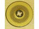 Part No: 2958pb013  Name: Technic, Disk 3 x 3 with Black Rings on Gold Background Pattern (Sticker) - Set 8007