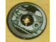 Part No: 2958pb019  Name: Technic, Disk 3 x 3 with Machinery Pattern 3 (Sticker) - Set 4504