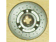 Part No: 2958pb020  Name: Technic, Disk 3 x 3 with Disk Brake 3 Spokes, Black Dots on Gray Pattern (Sticker) - Set 8445