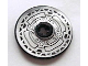 Part No: 2958pb039  Name: Technic, Disk 3 x 3 with Disk Brake Silver / Black Small Bolts Pattern (Sticker) - Set 8371
