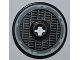 Part No: 2958pb054  Name: Technic, Disk 3 x 3 with SW Millennium Falcon Grille Pattern (Sticker) - Set 7965