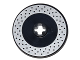 Part No: 2958pb063  Name: Technic, Disk 3 x 3 with Disk Brake Silver Drilled Rotor Pattern