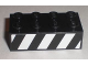 Part No: 3001pb074L  Name: Brick 2 x 4 with Black and White Danger Stripes Pattern Model Left (Sticker) - Set 8211