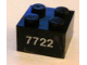 Part No: 3003pb031  Name: Brick 2 x 2 with White '7722' Pattern (Sticker) - Set 7722